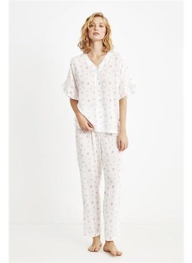 Penye Mood 9055 Pijama Takım Pembe